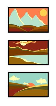 landscape palette study