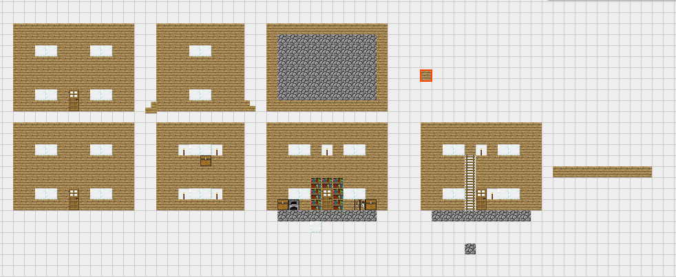 Minecraft Blueprints- Wooden House 1 by Prettyblood14 on