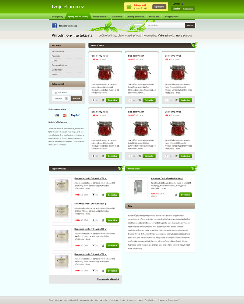 Natural Remedies e-shop design by *lefiath on deviantART