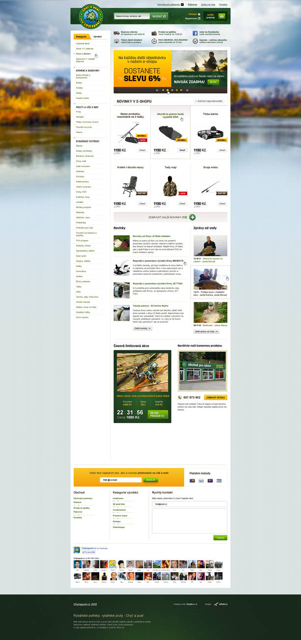 Fishing equipment online store