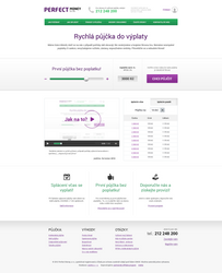 Quick loans - simple landing page