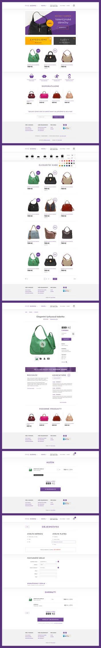 E-commerce with handbags