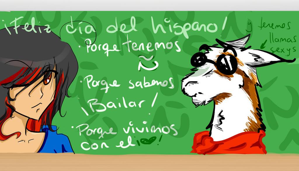 Feliz dia hispanooooo by LouxHitomi