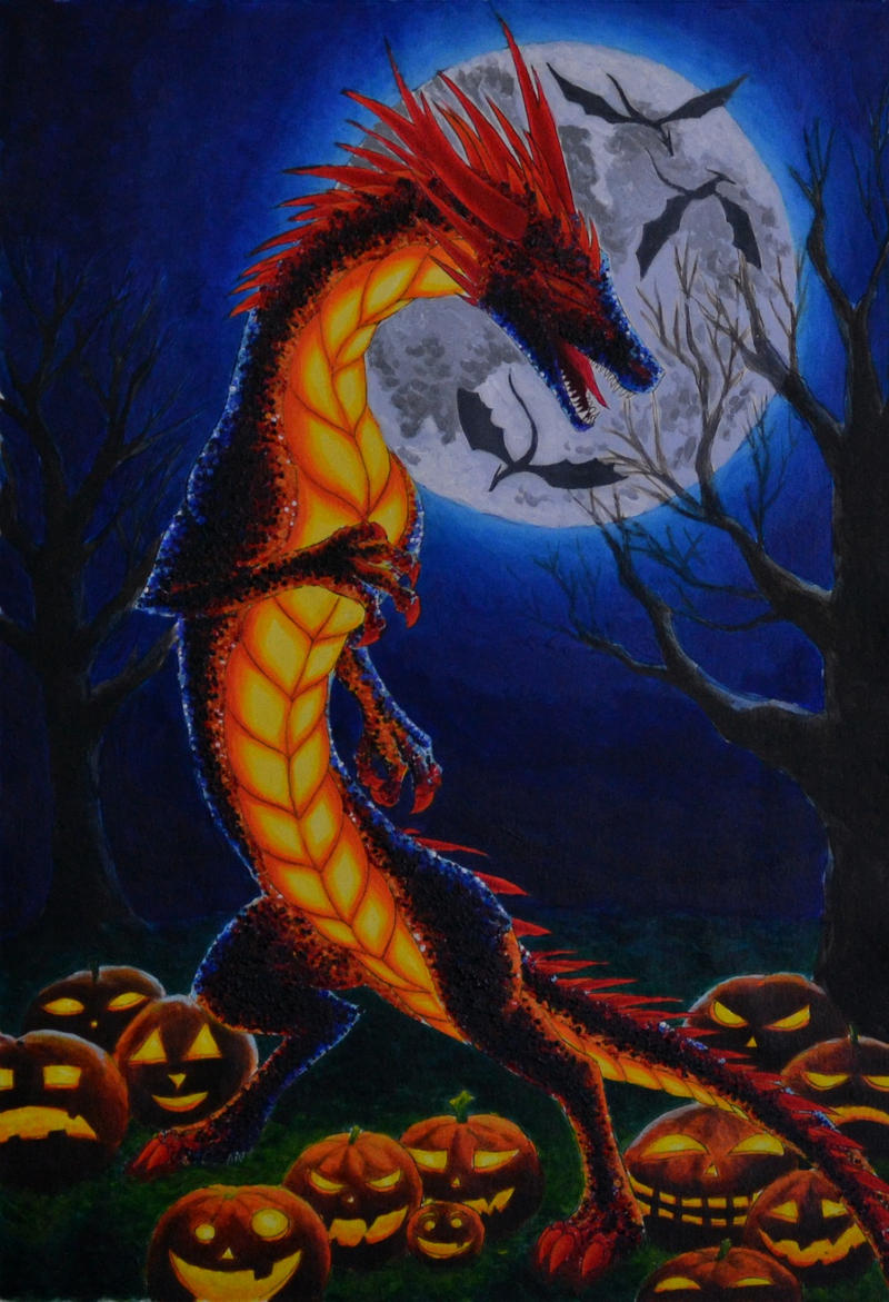 If I were a dragon ... I would look like this .. Halloween_dragon_by_dalanatha-d6sihaw