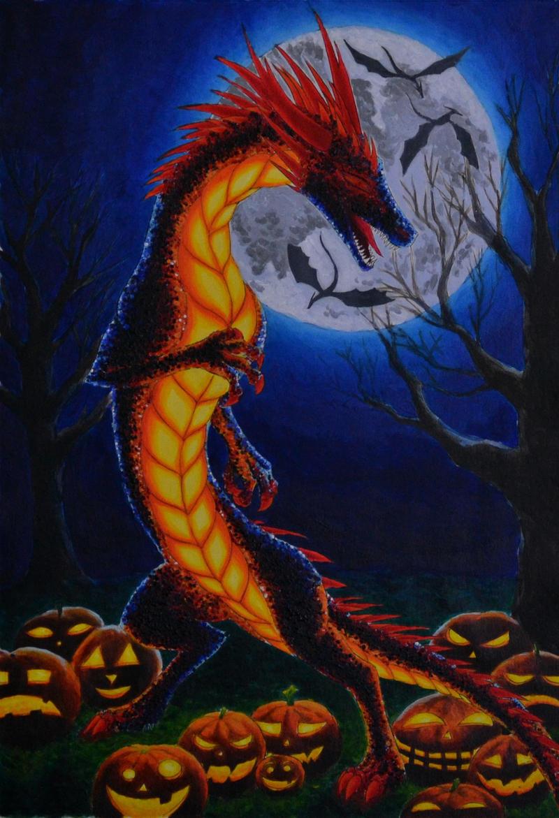 If I were a dragon ... I would look like this .. Halloween_dragon_by_dalanatha-d6sihaw