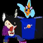 Rock it Shade N Wub It Rotom Journal Doll by shadethecb