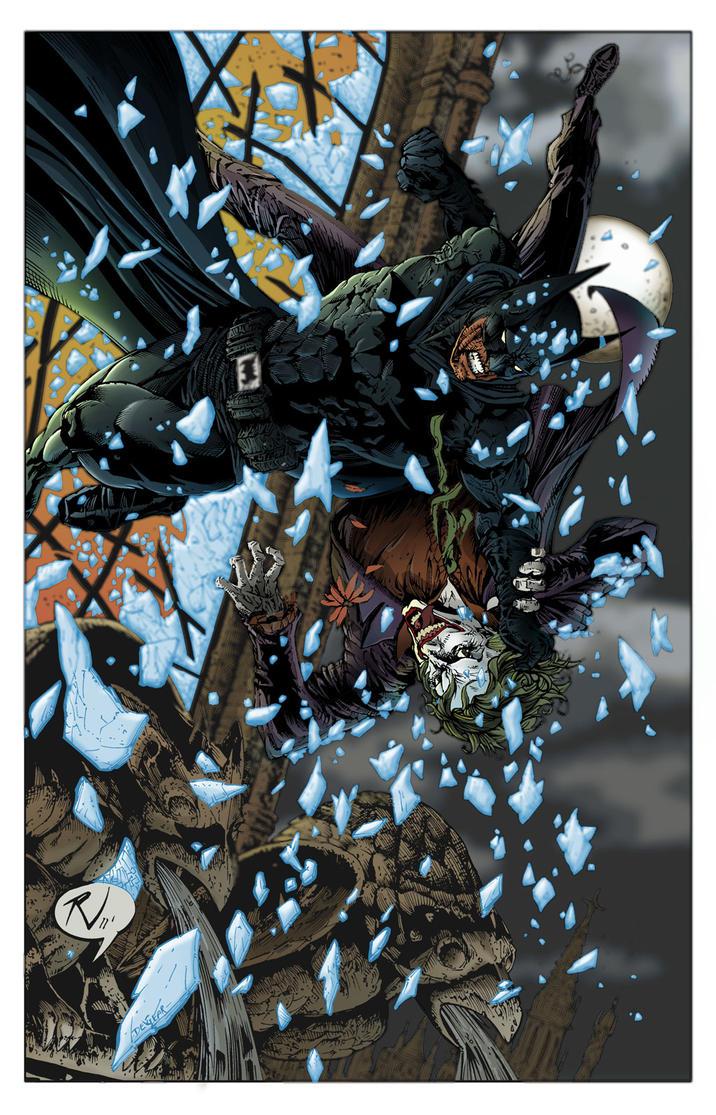 Batman and Joker falling version02 by Dreamervic