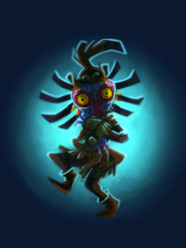 Skull Kid and Majora's Mask by vanduobones