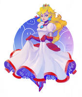 Princess Peach by vanduobones