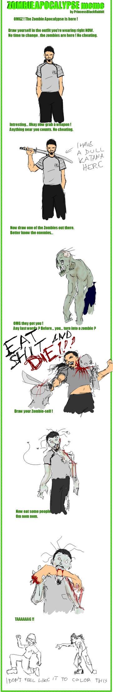Zombie Apocalypse Meme by sutechshiroi