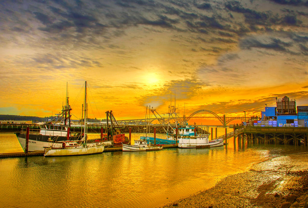 Yaquinta Bay and Bridge by cokehead666