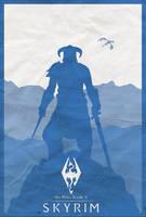 Skyrim Minimalist Poster by shrimpy99