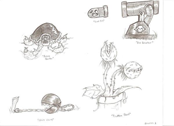 Mario Re invented: enemies 1 by Adam430k