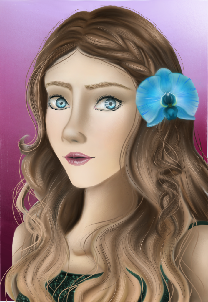 Blue orchid by mady95