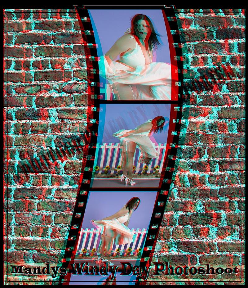 3d striptease girl anaglyph glasses - 4 2