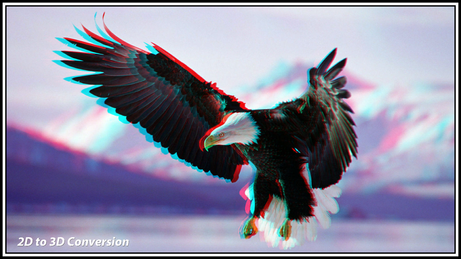 Eagle in flight 2D to 3D conversion by zippy6234 on DeviantArt