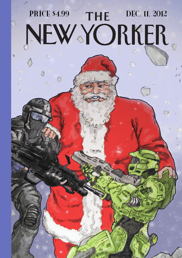 New Yorker Holiday cover by jmoneygetdown