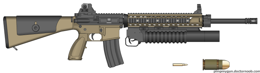 M16A4 W/M203 by TheQRoks on DeviantArt M16a4 M203