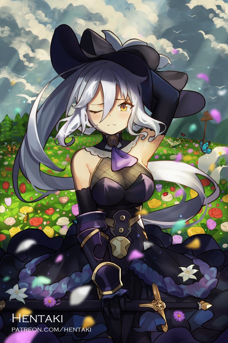 Grace on the flower field