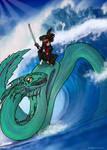 Kwanchai rides an Orochi
