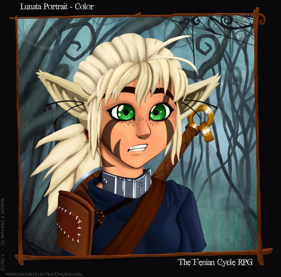 Fenian Cycle NPC - Lunata Portrait by SP00KYELECTRIC