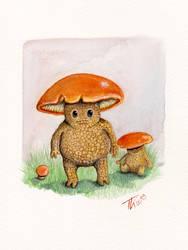 Rotkappen Pilzlinge