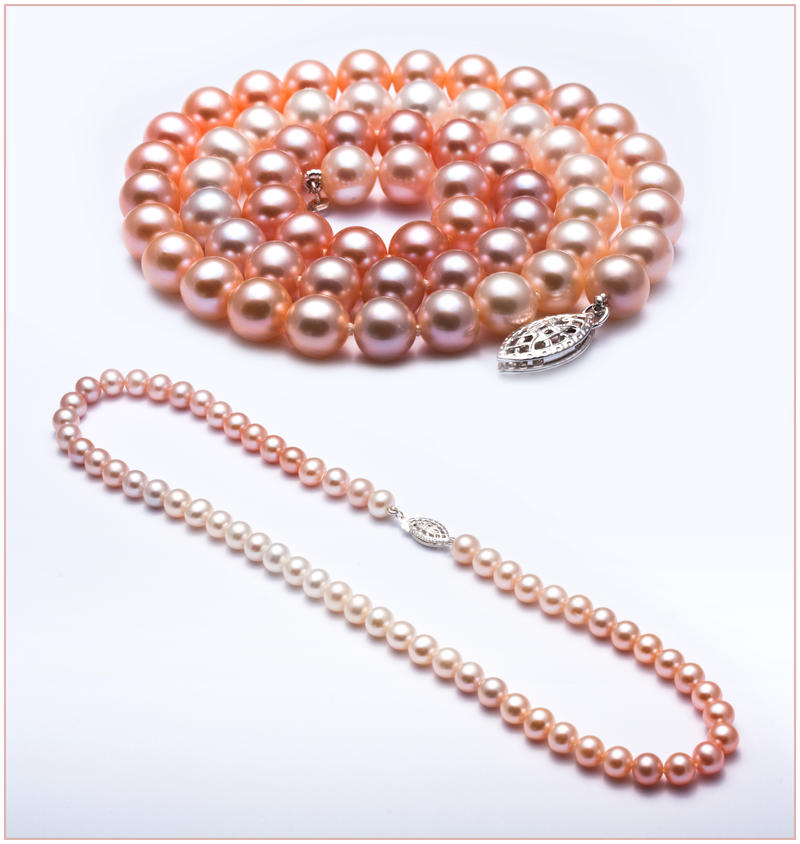 Colour-Gradient Freshwater Pearl Necklace by Sarahorsomeone