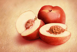 Yummy Nectarines by Sarahorsomeone