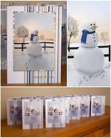 Snowman Christmas Cards by Sarahorsomeone
