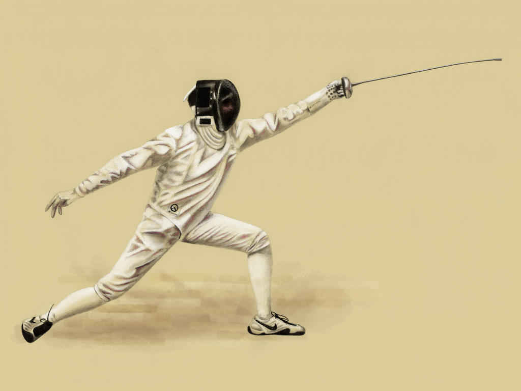 Epee Fencing Lunge by Sarahorsomeone