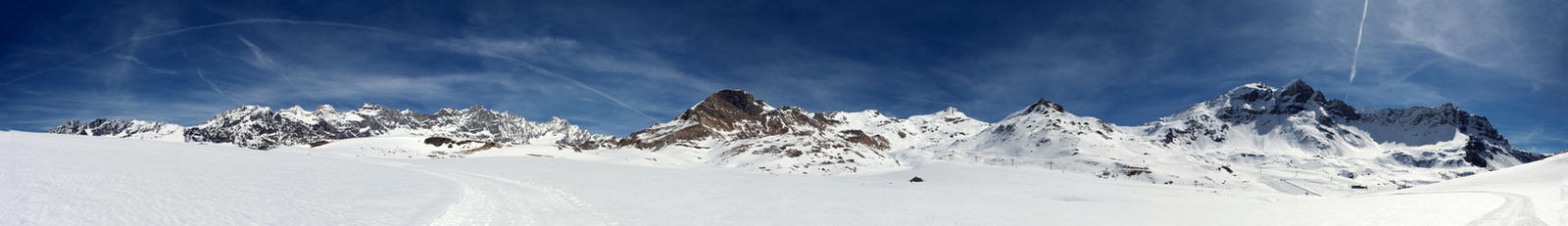 Pennine Alps Super-wide Panorama from Salette by Sarahorsomeone