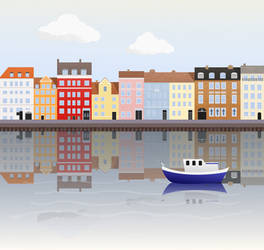Nyhavn Canal Vector