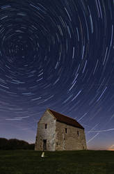 Star Trails Over St. Peters Chapel