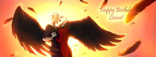Magical Kiss - Gift art for Lenne by sworddancer94