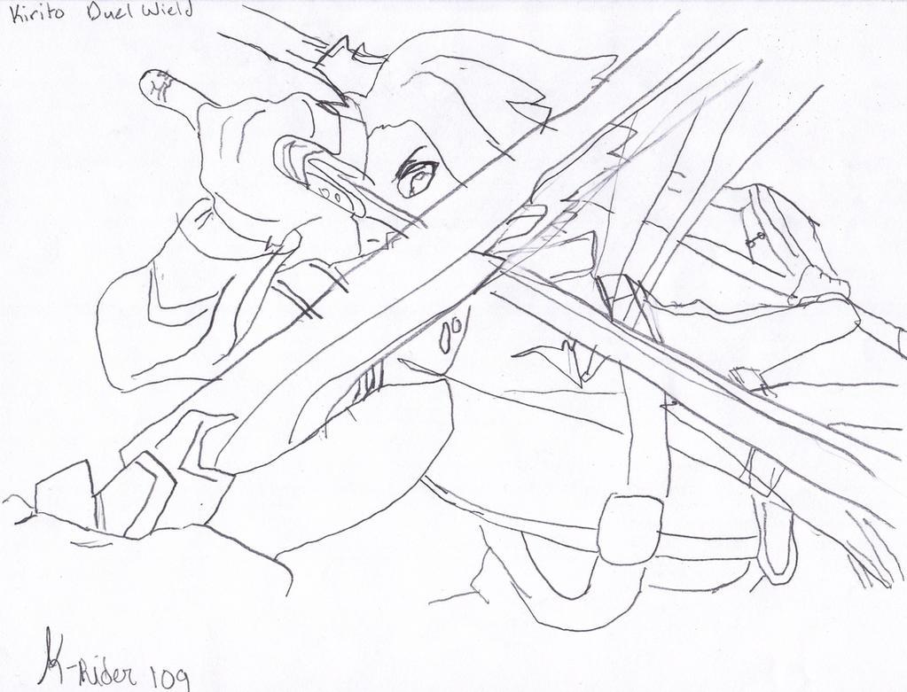 Alo sword art online kirito vs eugene sketch by for Sword art online coloring pages