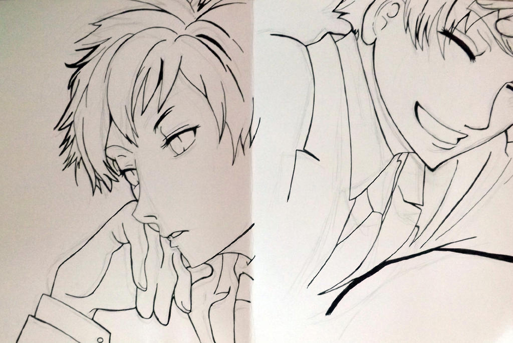 Line Art Anime : Ouran high school host club line art by leanimefiend on deviantart