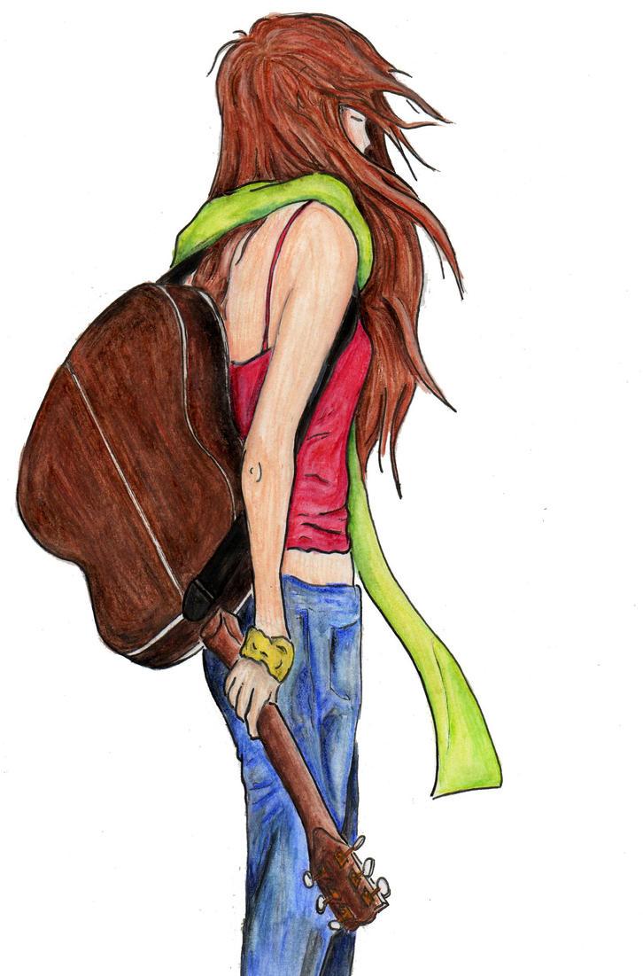 Guitar Girl by cabeloe
