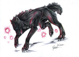 Black wolf by SpiritOfTheFire