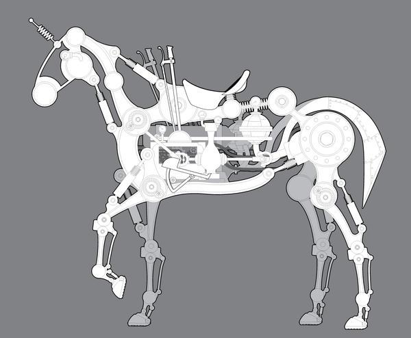 Steampunk Unicorn WIP by rsandberg