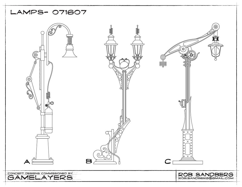 Steampunk Lamp Concepts by rsandberg