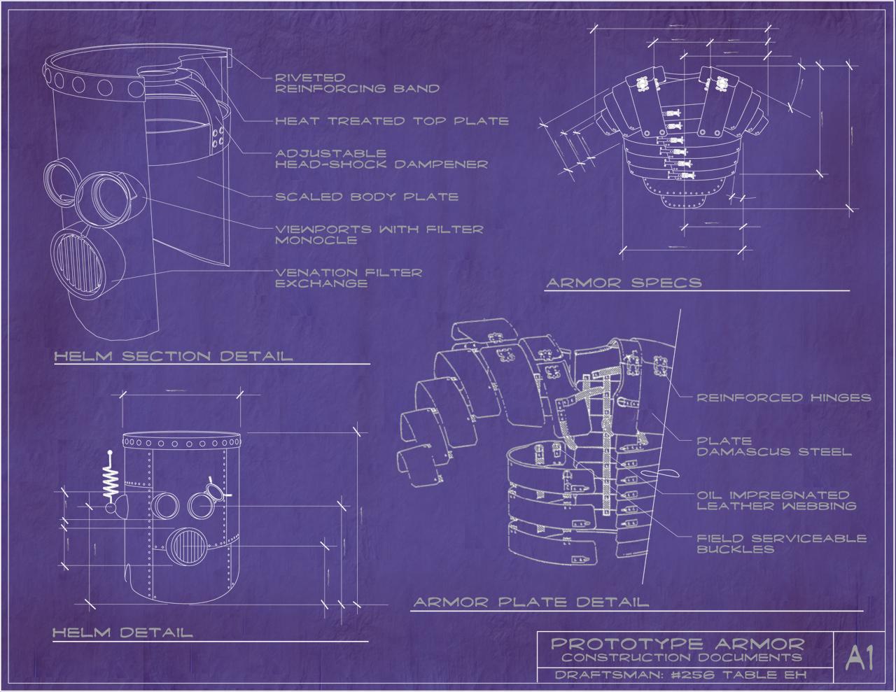 steampunk armor blueprints by rsandberg on deviantart rh deviantart com