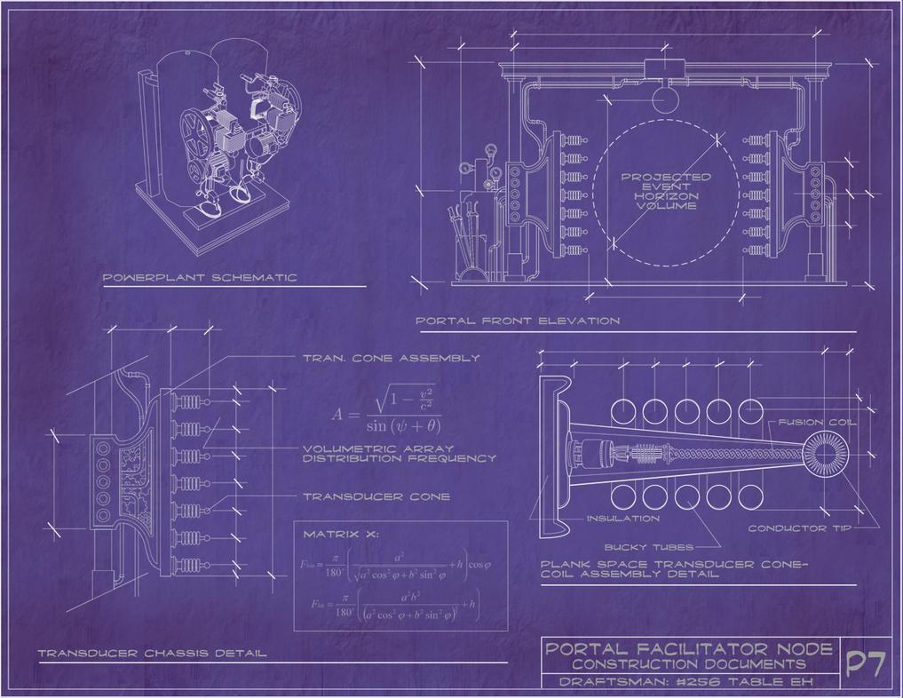 Steampunk portal blueprints by rsandberg on deviantart for How to make a blueprint