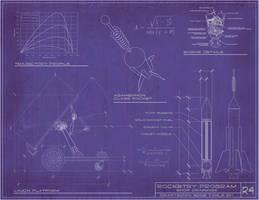 Steampunk Rocket Blueprints by rsandberg