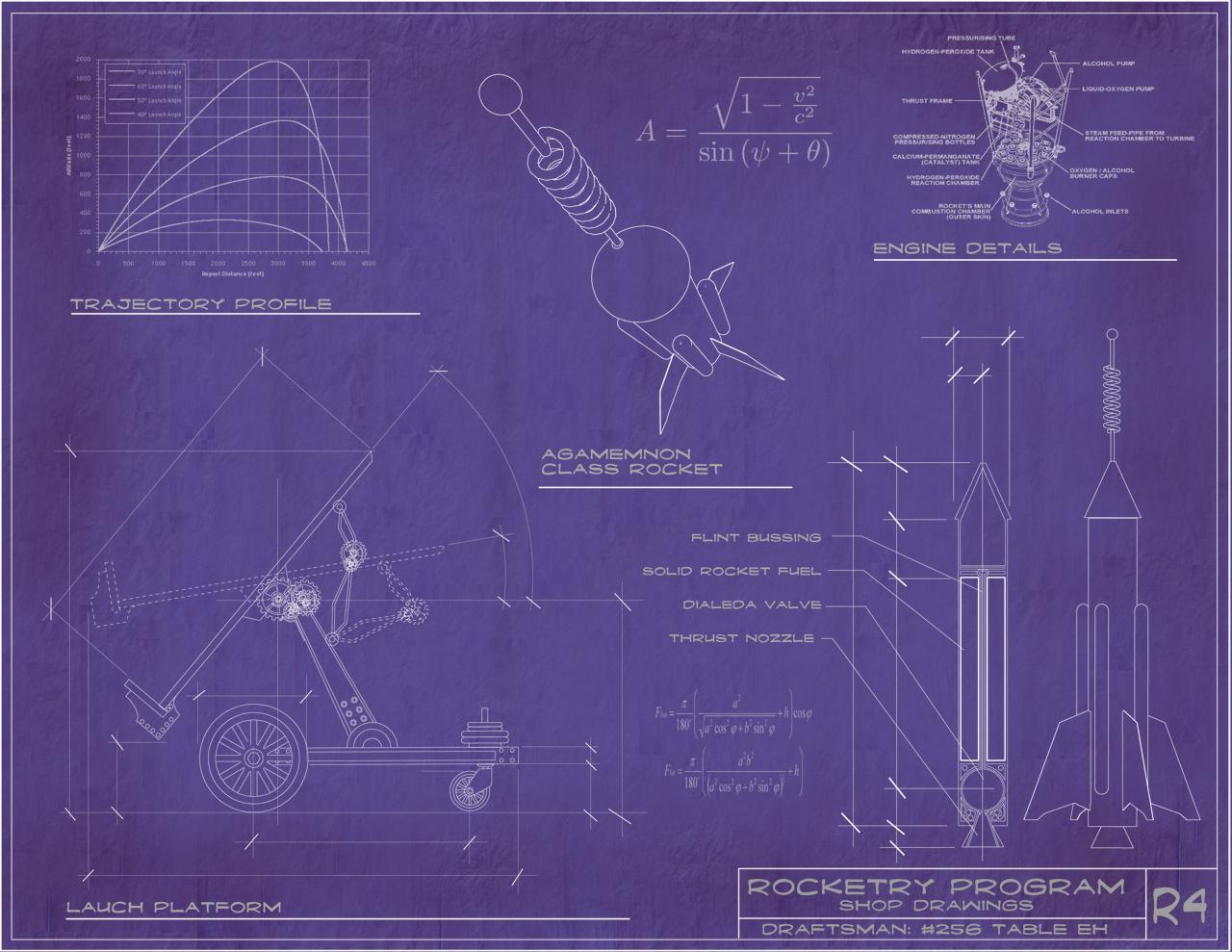 steampunk rocket blueprints by rsandberg on deviantart rh deviantart com