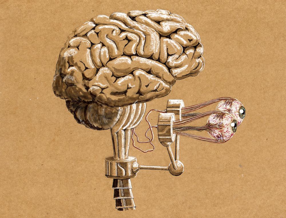 Steampunk Cyborg's Brain by rsandberg