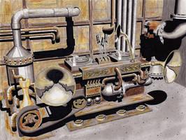 Steampunk DJ Deck by rsandberg