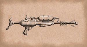 Steampunk Carbine Raygun