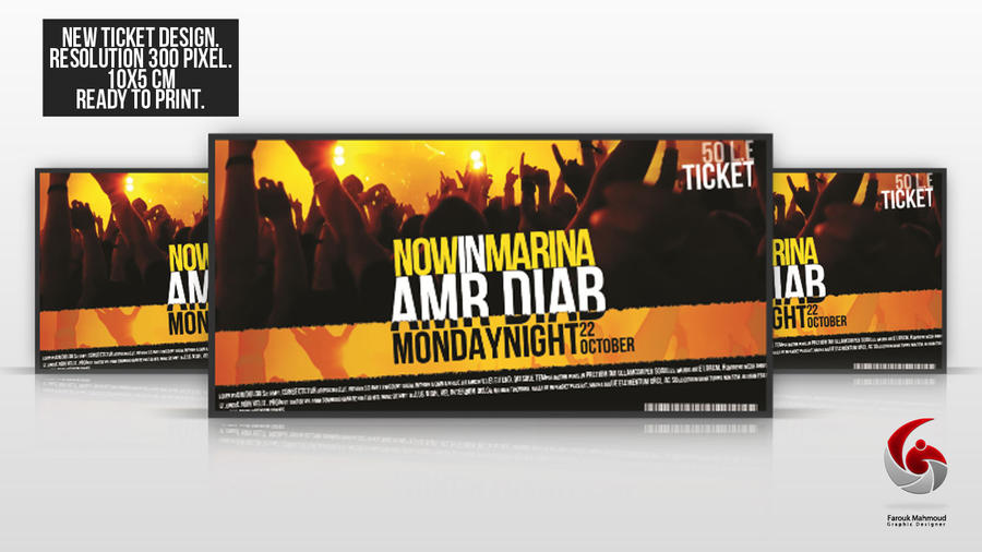 party ticket design images