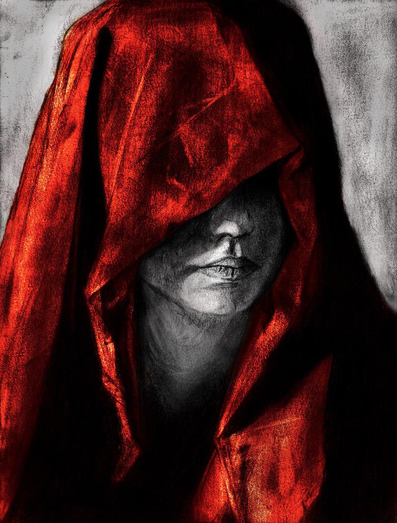 hooded woman by sandrohalpo on deviantart