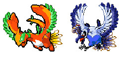 Lugia+Ho-Oh Sprite Fusion by LugiasSliverEclipse